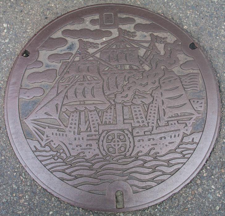 【蓋】静岡県下田市のマンホール